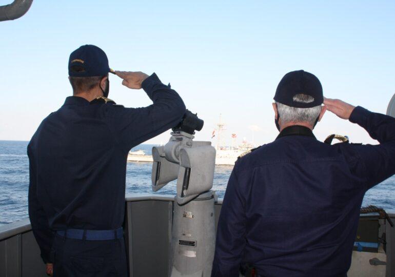 Συνεκπαίδευση Πολεμικού Ναυτικού Ελλάδας-Αιγύπτου νότια της Καρπάθου (βίντεο και εικόνες)