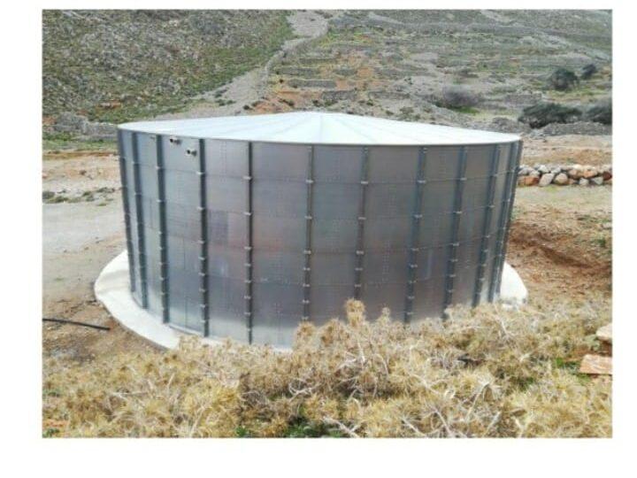 Νέα μεταλλική δεξαμενή ύδρευσης 1000 κ.μ στην Κάσο