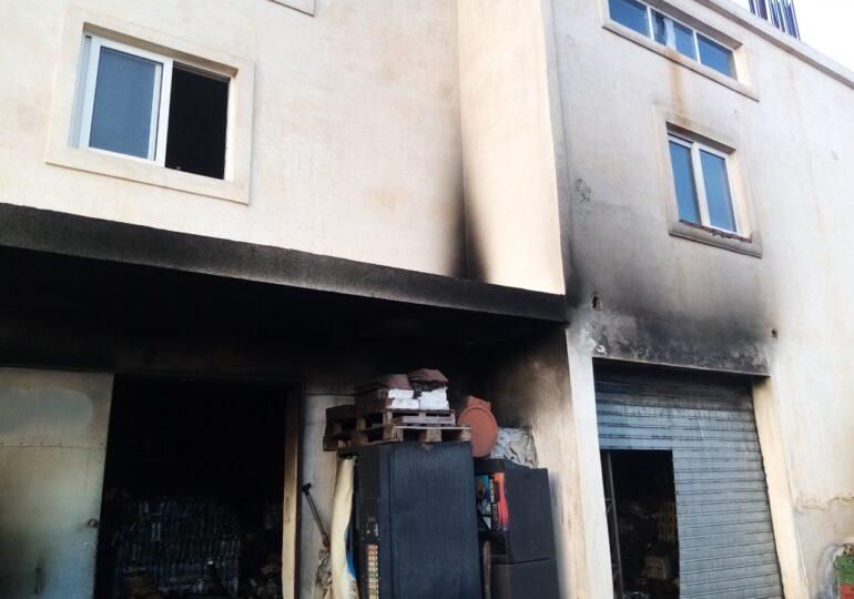 Φωτιά σε αποθήκη τροφίμων στο Πλατύολο