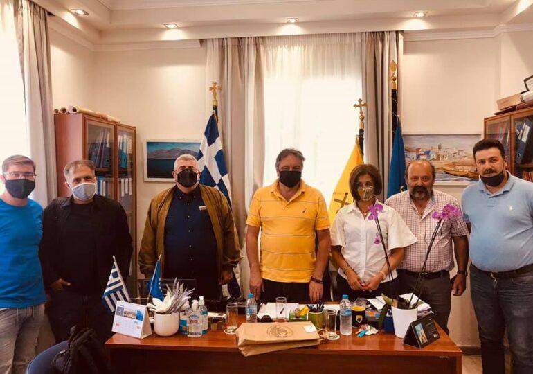 Συνάντηση εργασίας Αντιπεριφερειάρχη Φιλήμονα Ζαννετίδη με τον Δήμαρχο Η.Ν. Κάσου Μιχάλη Ερωτόκριτο