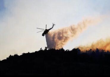 Εσπερινός και μικρή παράκληση στη Βρυσιανή για την κατάσβεση της πυρκαγιάς