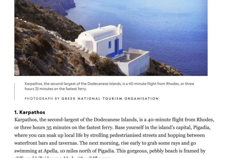 Η Κάρπαθος «πρωταγωνιστεί» στο National Geographic